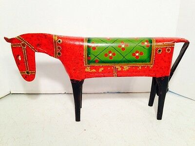 Art Metal Sculpture Horse Multi Colored Hand Crafted Home Decor