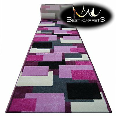 Runner Rugs, PILLY 8404 purple/pink, modern, Stairs Width 70-120 cm extra long