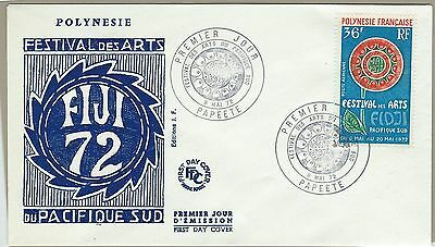 French Polynesia early 1972  FDC  - Festival of Arts