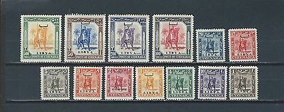 Italian Colonies Libya mnh early stamp set - rider on camel - Libya ovpt