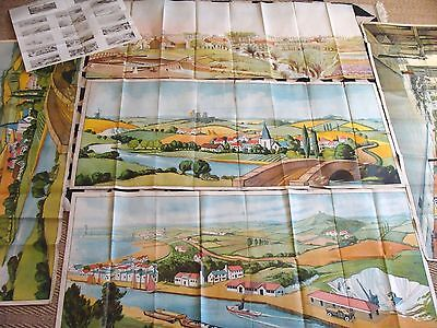 6x WW2 WAR OFFICE Landscape Target MILITARY TRAINING POSTERS Home Guard / Front