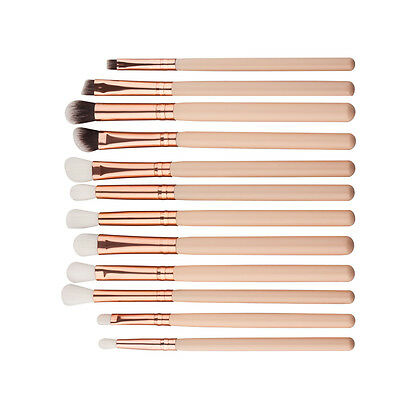 12 Pcs Makeup Brushes Set Foundation Powder Eyeshadow Eyeliner Lip Brush Tool