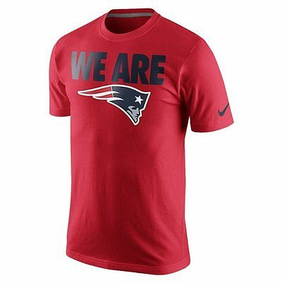 "New England Patriots Nike NFL American Football ""We are"" Cotton T-Shirt Red XL"
