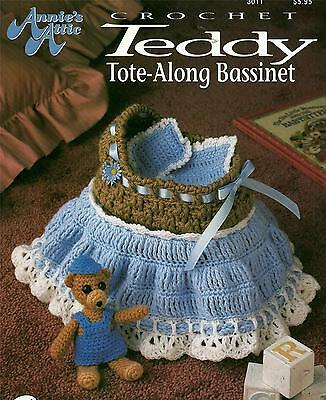 Teddy Tote-Along Bassinet Crochet Booklet Annie's Attic