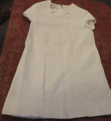 Robe D'enfant Blanche   Annees 60  /  /4/6 Ans Vintage  Child Dress/