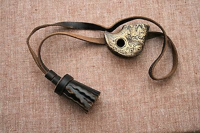 Soviet shashka handle part with leather knot sword