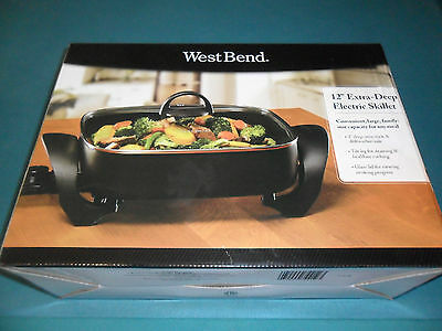 """Westbend 12"""" Extra Deep Electric Slillet - New In Box"""