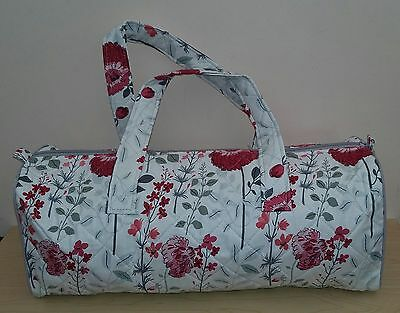 Hobby Gift-Knitting/Crochet/Project-Hold All Style Bag-Floral Design