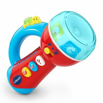 Spin And Learn Color Flashlight Baby Toddler Kids Learning Educational Toy