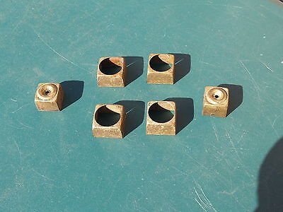 """6 ** Brass ** End Caps For Furniture Legs * Set Of 4, 1 3/4"""" Sq  &  1 Pair"""