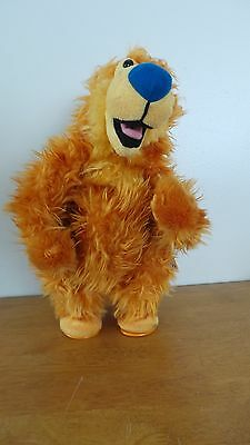 "1999 Mattel Jim Henson Big Blue House 14"" Singing, Dancing Cha Cha Bear Plush"