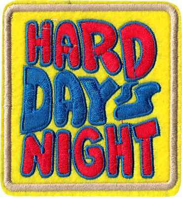 9992 Hard Day's Night Beatles 1960s Psychedelic Music Colorful Sew Iron On Patch