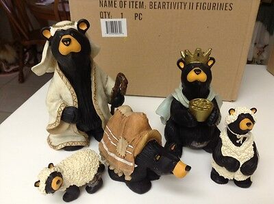 Big Sky Carvers Bear - Beartivity Ii  5 Piece  King, Shepherd, Camel, (2) Sheep