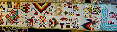Huge & Rare Victorian Sampler  - 24 Foot Long !! Super Table Runner