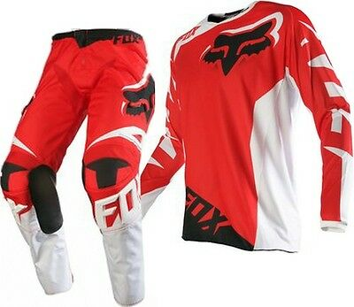 FOX 180 Race Jersey & Pant Combo Red Size Mens XL / 36