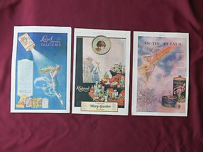3 Vintage Ladies' Home Journal Mixed Beauty Products-1917, 1919 & 1920
