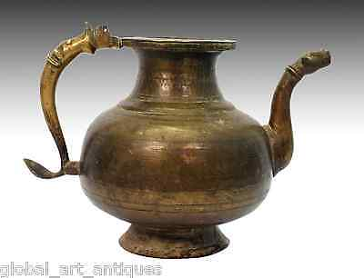 Antique Old Indian Rare Mughal Brass Pot/Vessel With Spout. G3-50