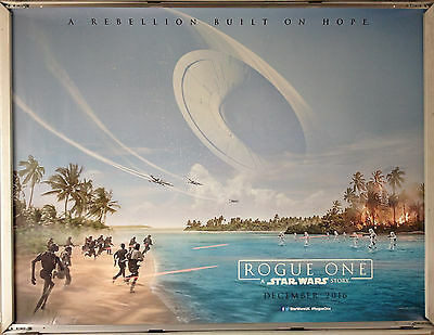 Cinema Poster: ROGUE ONE A STAR WARS STORY 2016 (Advance Quad) Felicity Jones