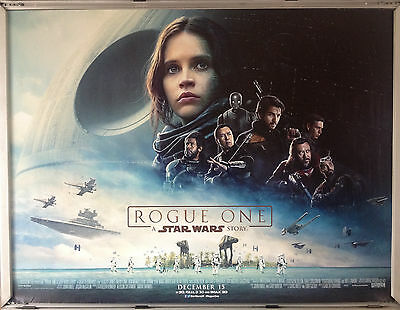 Cinema Poster: ROGUE ONE A STAR WARS STORY 2016 (Main Quad) Felicity Jones