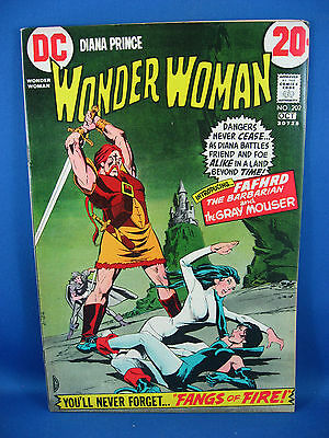 WONDER WOMAN 202 VF 1972 Catwoman Appearance 1972