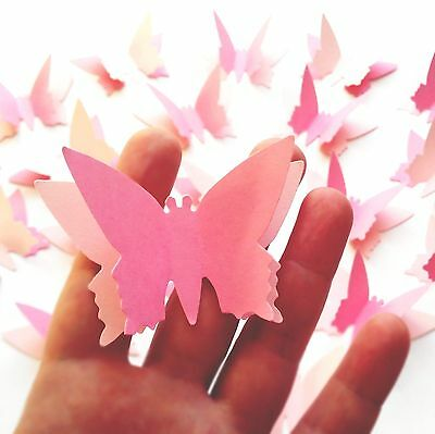 20 x princess birthday party paper butterfly 3D pink table decorations