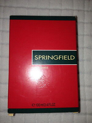 Springfield After Shave 100ml Brand New