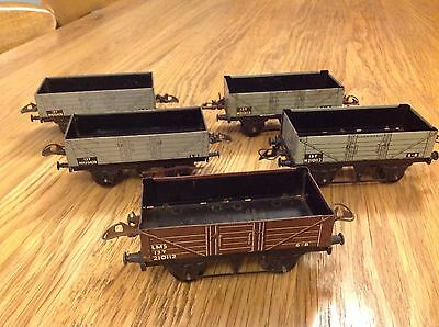 HORNBY O GUAGE Job Lot of 5 OPEN WAGONS