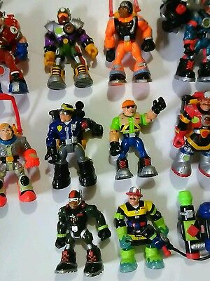 Lot of 11 Mattel ~ Fisher Price RESCUE HEROES Action Figures +7 Accessories