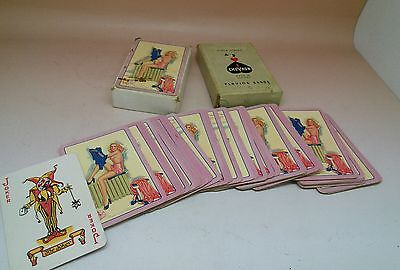 Vintage 1950S Pin Up Girl Playing Card Deck Chevron England