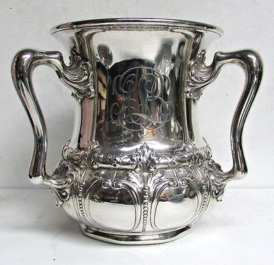 Magnificent Gorham Sterling Silver 3 Handle Loving Cup (Spaulding & Co Chicago)