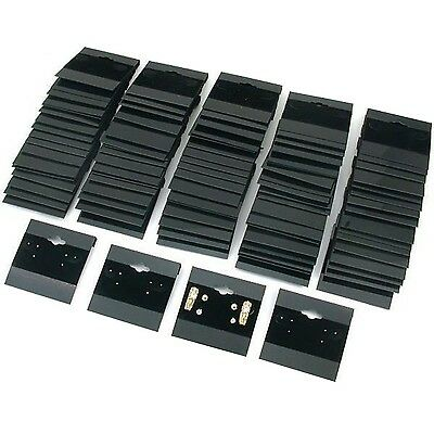 "Black Velvet Plastic Display Cards for Earrings, Jewelry Accessories, 2"" x 2"""