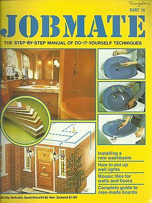JOBMATE 16 DIY -WASHBASIN WALL LIGHTS MOSAIC TILES etc