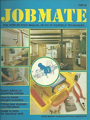 JOBMATE 58 DIY PLASTERING CEILINGS, STOPTAPS/VALVES etc