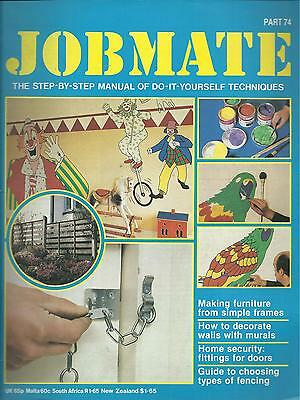 JOBMATE 74 DIY -FENCING, FURNITURE, MURALS, SECURITYetc