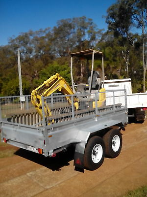 Galvanised 12x6 Tandem 3.5 Ton Plant Machinery Hydraulic Tipper Tipping Trailer