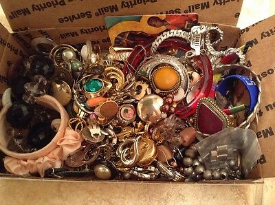 Craft Lot #3 of Costume Jewelry - Wear or Recreate into something new!