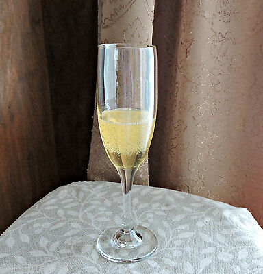 Flute Glass Champagne Bubbly Wine FAKE Handcrafted FOOD Photo Staging PROP