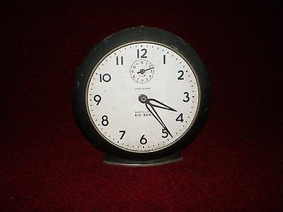 Vintage Westclox Big Ben Alarm Clock 2A 48H in Gunmetal circa 1949 for REPAIR