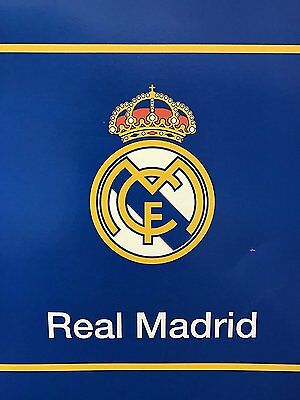 """New Licensed Real Madrid Luxury Plush Twin Size Blanket 60""""X80"""""""