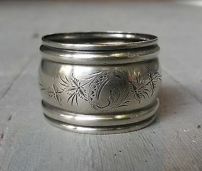 Beautiful Antique Victorian Sterling Silver Napkin Ring Nice Condition!