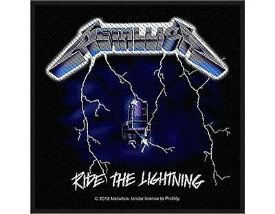 METALLICA ride the lightning - 2013 - WOVEN SEW ON PATCH official merchandise