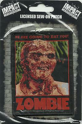 ZOMBIE FLESH EATERS eat you 2016 WOVEN SEW ON PATCH official IMPORT Lucio Fulci