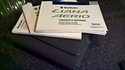 Suzuki Liana Owners Manual Handbook Wallet 2001-2004 Bookpack