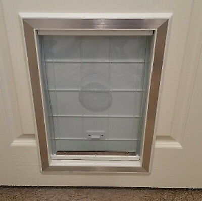 Dog Door Extra Large Cat Pet Flap Door Magnetic Closure Aluminum Frame