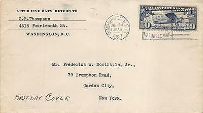 C10 10c Lindbergh, First Day Cover Cachet [E137427]