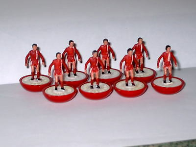 Monza ref 504 subbuteo lightweight team x8 in poly tray,no outer box,1981-88