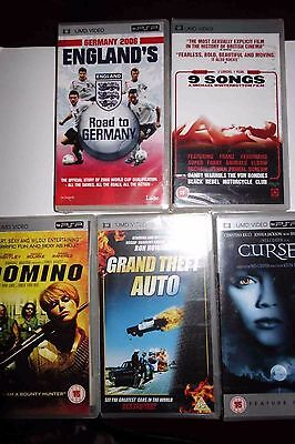 Brand New And Sealed 5 X Psp Umd Films Movies