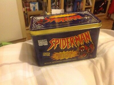 1996 marvel spider-man limited edition collector tin