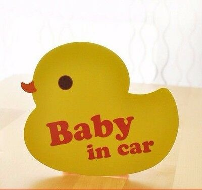*US SELLER* Baby on Board in Car Safety Sticker Decal Reflective Duckie Sign