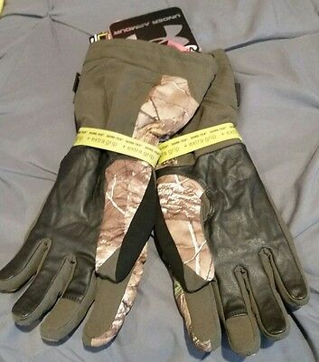 NWT Under Armour Gore-Tex 1241977 REALTREE Camo Infrared Hunting Gloves Womes XL